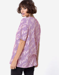 OVERSIZED DON'T CARE TEE PURPLE