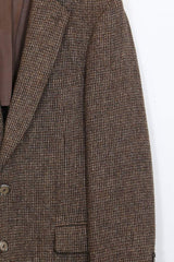 Men's Harris Tweed Blazer - Brown L