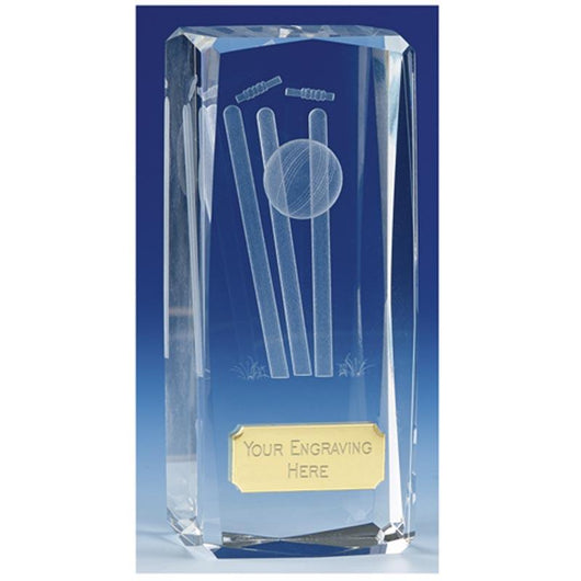 OK020 - Clarity Glass Cricket Trophy