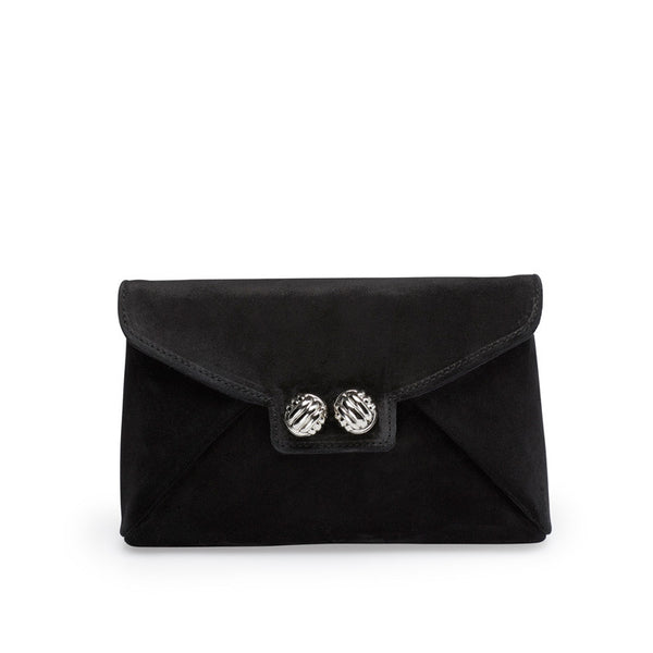 Heather black silver clutch - Leowulff
