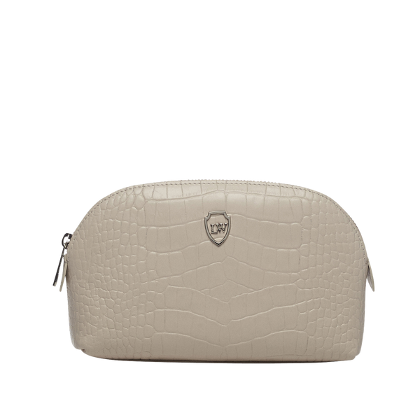 Sybil ivory silver make-up bag - Leowulff