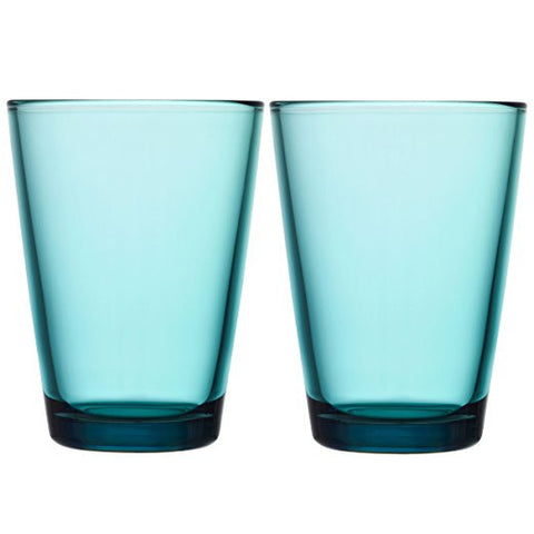 Iittala Kartio Sea Blue Tumbler 0.40L (Pair)