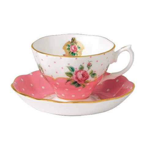 Royal Albert Cheeky Pink Vintage Teacup and Saucer 0.15L