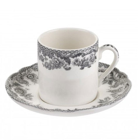 Spode Delamere Rural Coffee Cup and Saucer 0.09L (Set of 4)