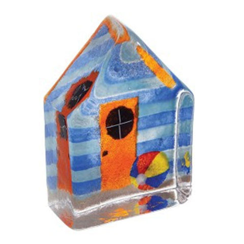 Caithness Glass Beach Hut Blue Sandcast