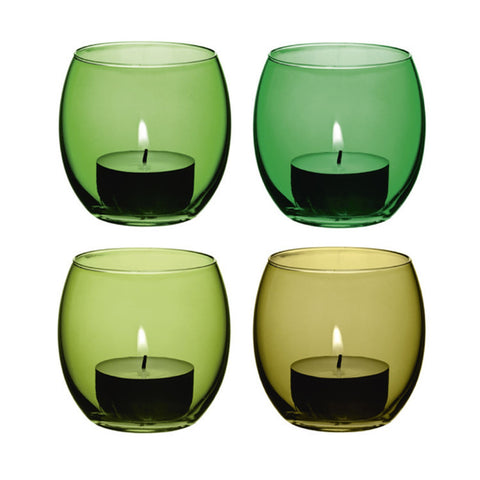 LSA Coro Leaf Set of 4 Tealight Holders 6.5cm