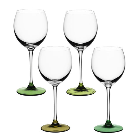 LSA Coro Leaf Set of 4 Wine Glasses 400ml