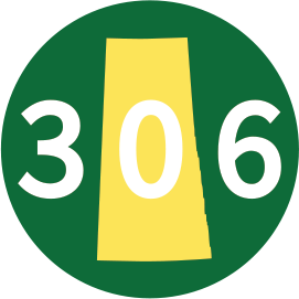 SASK 306 BAT KNOB DECAL