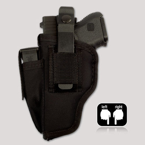 Hip holster with mag pouch and spring clip