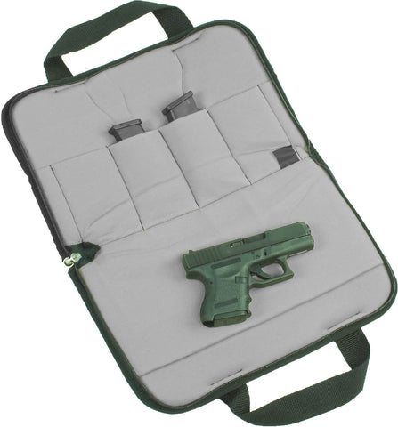 Padded handgun case for glock, sig sauer, taurus, ruger
