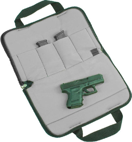 Padded pistol pouch with magazine pockets