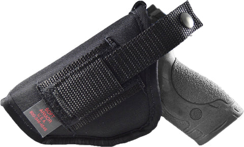 Ambidextrous hip holster with thumb break for glock, sig sauer, taurus, ruger