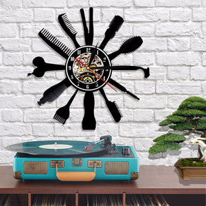 Vinyl Record Wall Clock - Hairdresser Style