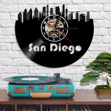 Vinyl Record Wall Clock - San Diego Style