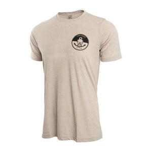 Light Grey Mens T-shirt with Anchors Away Logo small medium Large XL