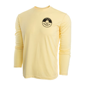 Yellow Mens UV Long Sleeve with Anchors Away Logo small medium large xl