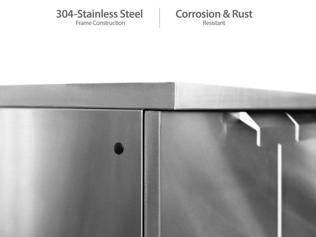 "Classic Stainless Steel / Include Countertops / 33"" Grill & Grill Cabinet"