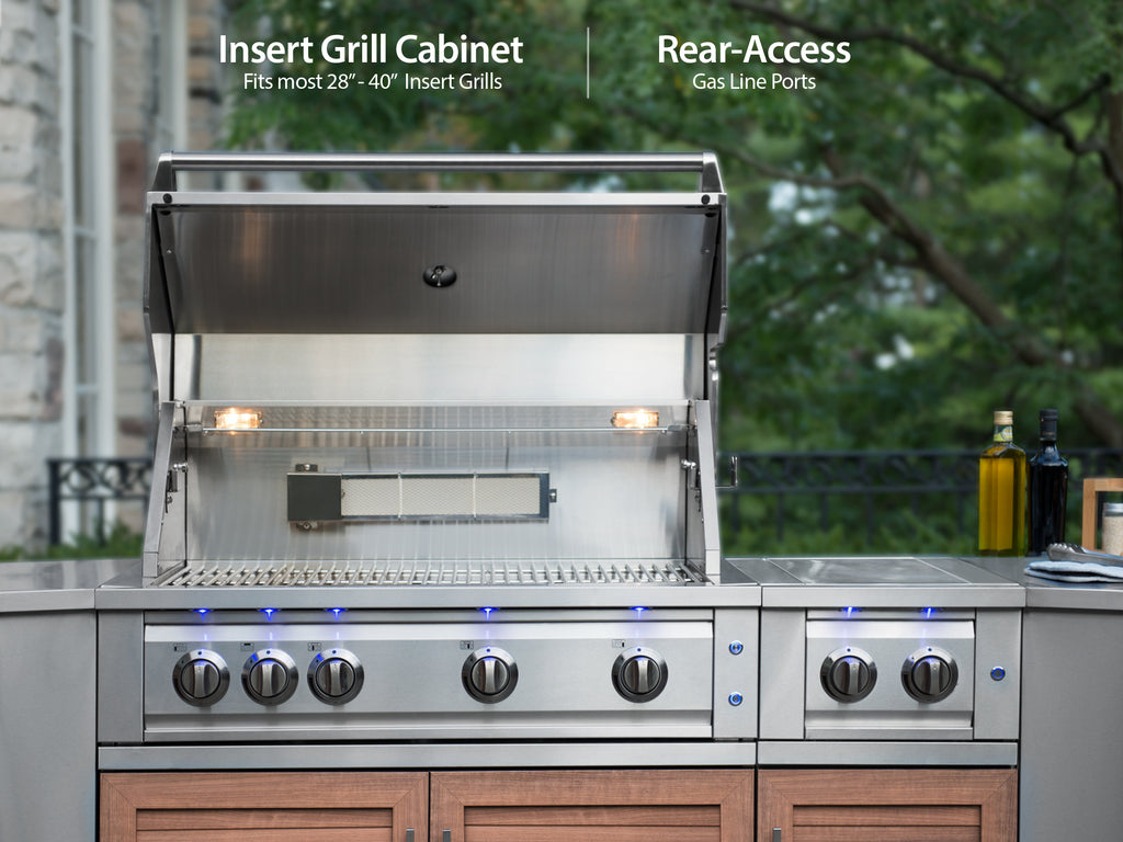 "Grove / Include Countertops / 33"" Grill & Grill Cabinet"