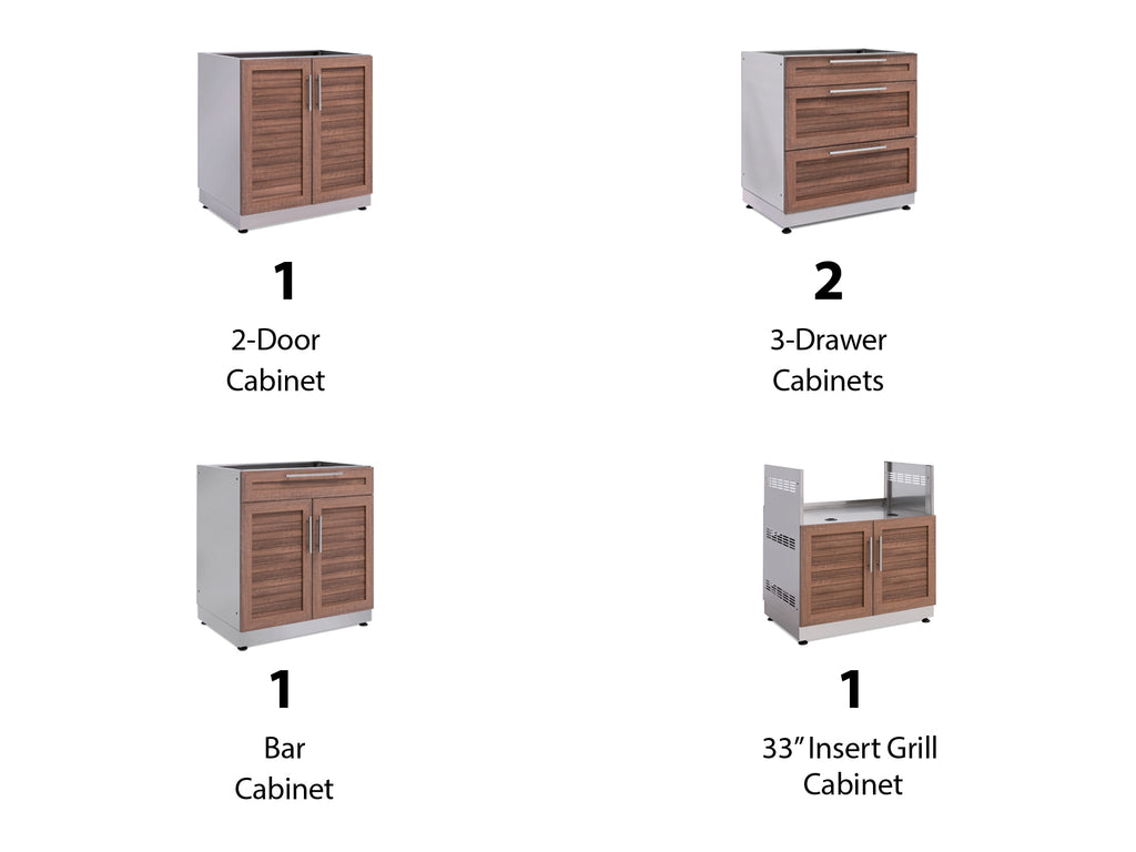"Grove / No Cover or Countertops / 33"" Grill Cabinet"