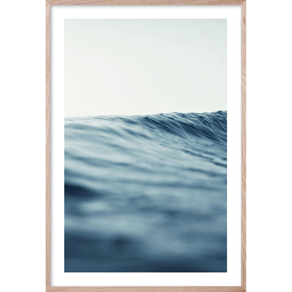 SERENITY 3 Soft Wave Contemporary and Hampton's style coastal wall art