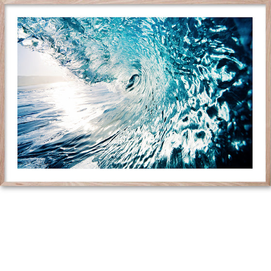 Riding the Wave #1 * Contemporary fine art print of an oceans wave