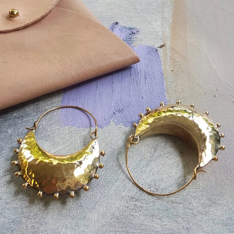 Hebba Crescent Hoop Earrings
