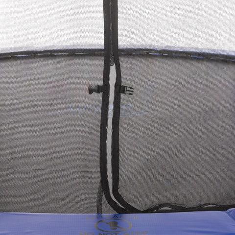 7.5ft trampoline with enclosure netting and zipper opening