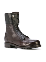 Bi-color combat boot