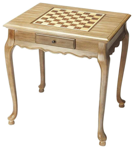 Sage Arcade Butler Furniture Bannockburn Driftwood Olive Ash Burl Cherry Chess Game Table Game Table Butler Furniture