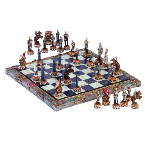 Sage Arcade Dragon Crest Historic Civil War Chess Set Chess Dragon Crest