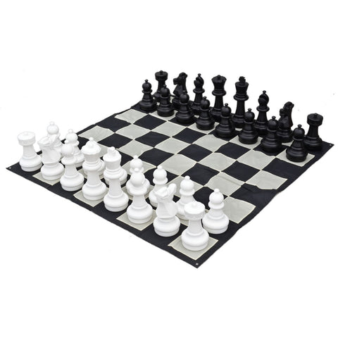 "Sage Arcade 25"" Giant Chess Indoor/Outdoor Lightweight Pieces Chess WBG"