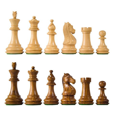 Sage Arcade Majestic Staunton Chess Pieces Sheesham, Ebonized Chess WBG