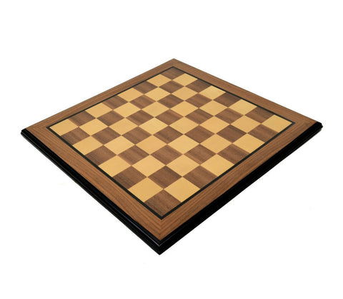 "Sage Arcade Rosewood & Maple Chess Board with 2"" Squares Chess WBG"