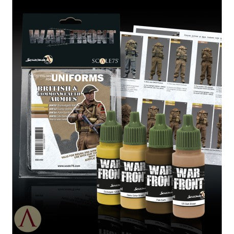 BRITISH & COMMONWEALTH ARMIES PAINT SET