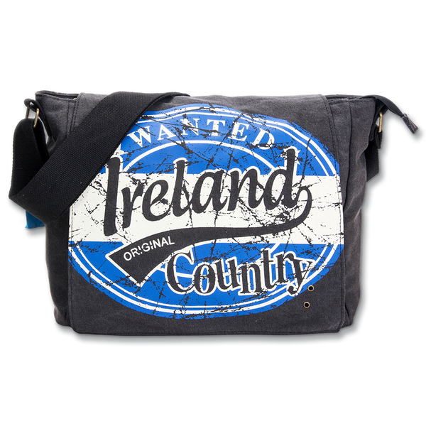 Ireland Wanted Messenger Bag - Large - Blue, Green or Red