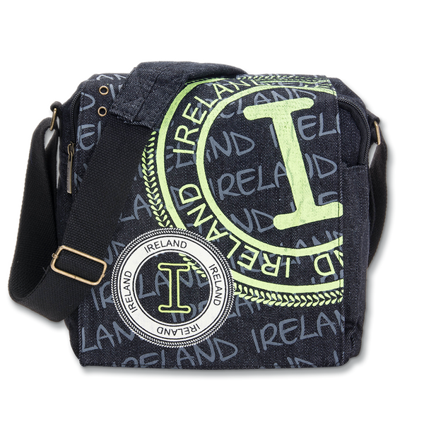 Ireland Denim Stamp Messanger Bag - Small - Green or Gray
