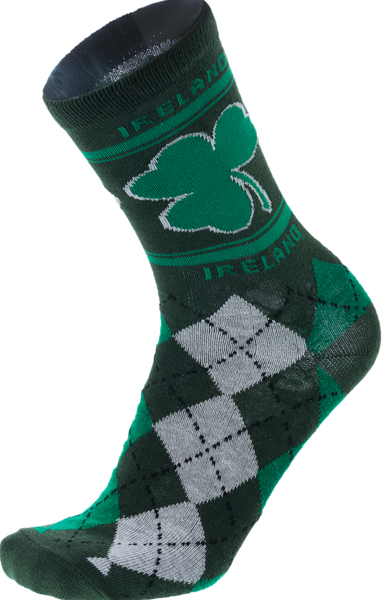 Ireland Shamrock Argyle Socks