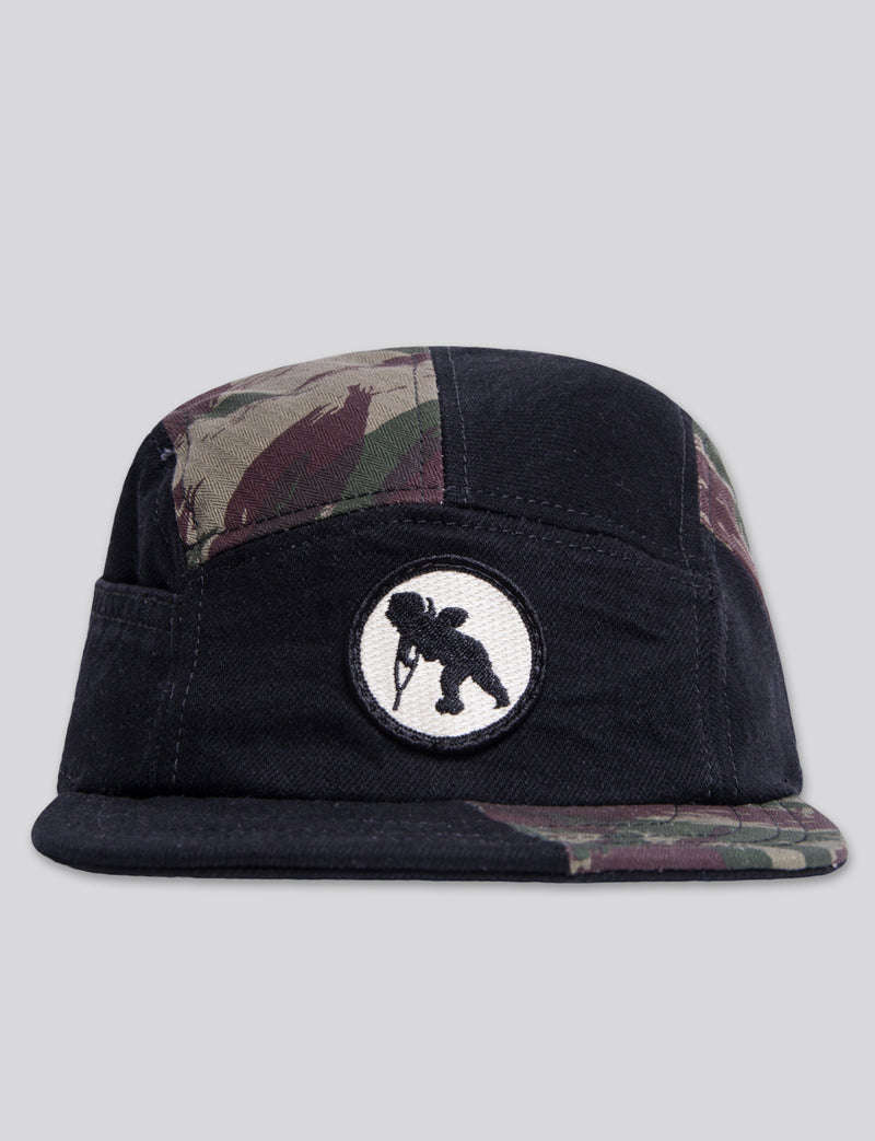 Prps - #11 Black Denim/Camo 5 Panel Hat - Hat - Prps