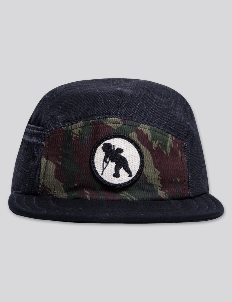 Prps - #12 Black Denim/Camo 5 Panel Hat - Hat - Prps