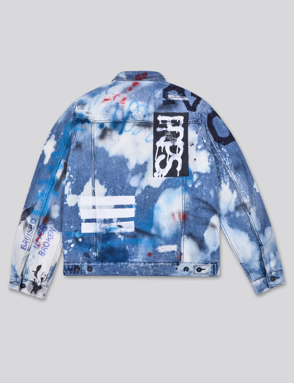 Prps - #4 Hand Painted Logo Denim Jacket - Jacket - Prps