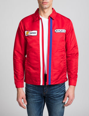 Zip Front Racing Jacket