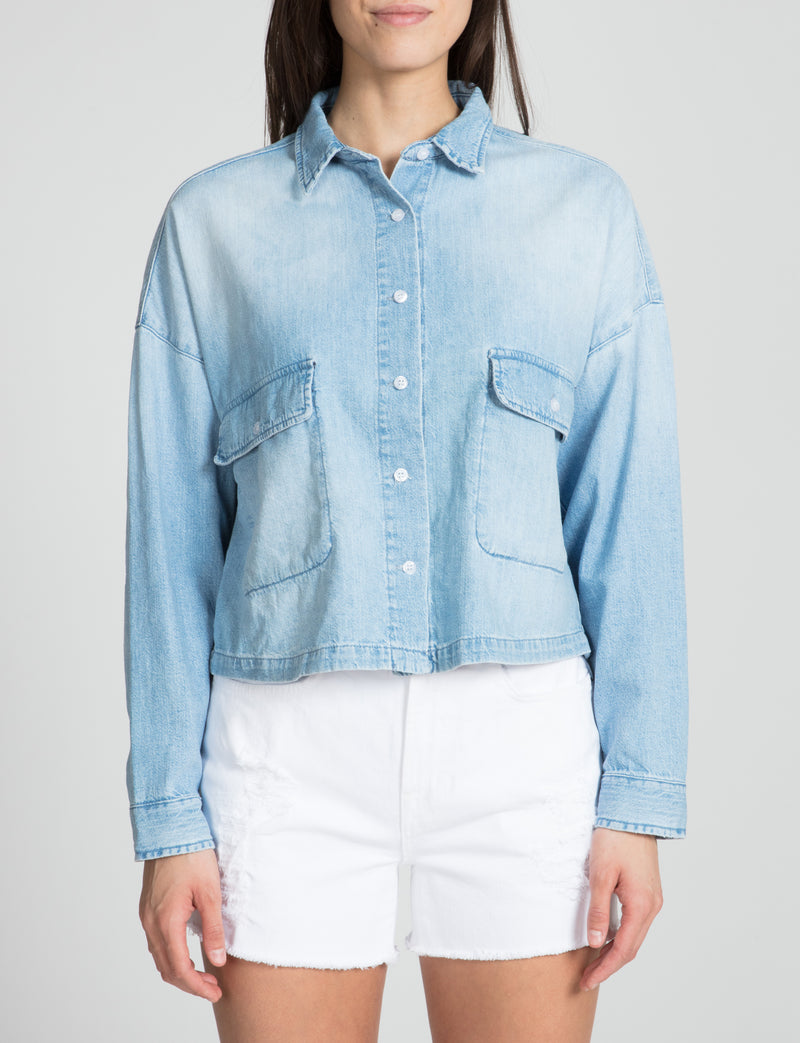 The Cropped BF Button Down