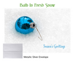 2018 Holiday Cards: Bulb in Fresh Snow