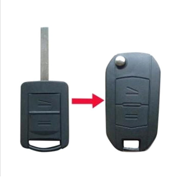 2 button flip key case upgrade for Vauxhall Opel Corsa C Combo remote key - HU100 blade profile