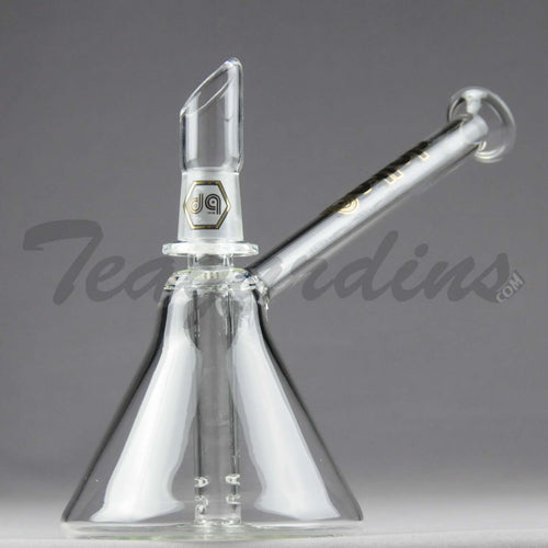 Delta 9 Glass - D.I. Oiler Beaker Dab Rig - Gold Decal - 4mm Thickness / 6.5