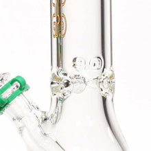 "Load image into Gallery viewer, Left Coast - Water Pipe Beaker Rasta 9mm Thickness 18"" Height"