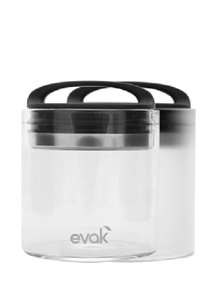 Evak - Airtight Glass Storage Container - Compact 16oz Airight Jar