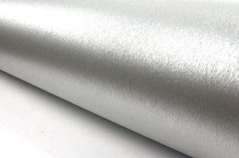 Brushed Metal Texture Contact Paper Film Vinyl Self Adhesive Peel-stick Removable (Silver)