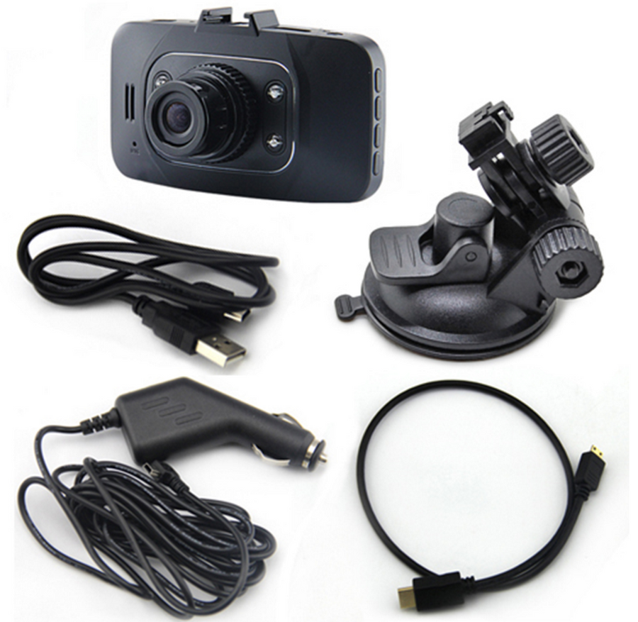 "2.7"" Dashcam 1080P HD Video Recorder w/ 4 Infrared LEDs"