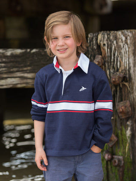42SOUTH kids rugby jumper boy navy